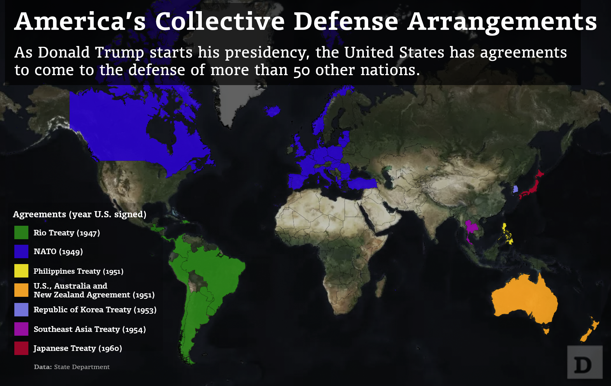 Mapped Americas Collective Defense Agreements Defense One