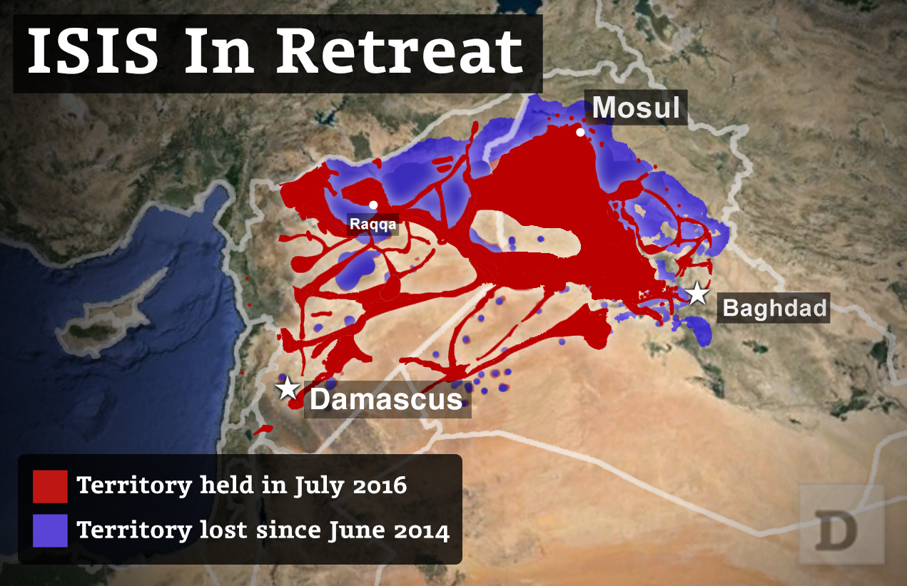 US Forces Arent Working With Russians Against ISIS SOCOM Chief - Isis location map in us
