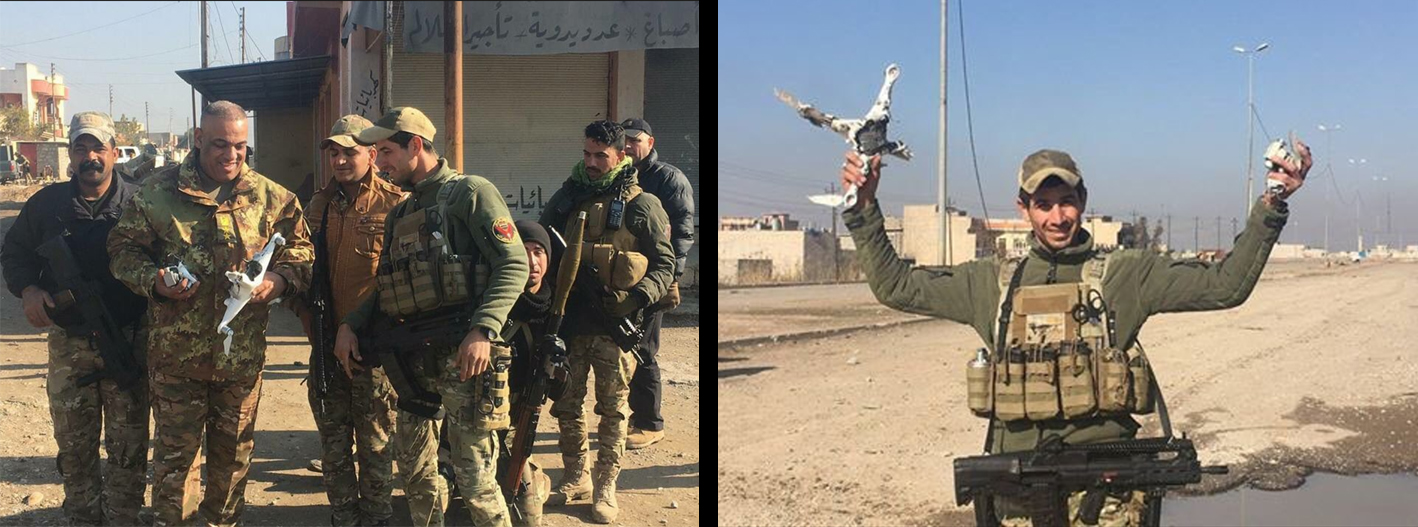 And Here Are Three Images CENTCOM Shared With Defense One Showing Other Quadcopter Drones Captured By Iraqi Forces Date Location Unknown