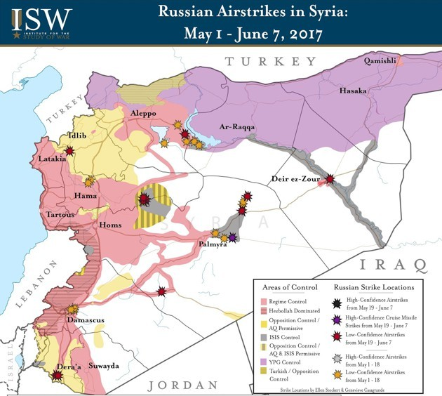 The United States And Russia Are Increasingly At Odds In Syria - Us and russia map